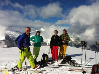 Ski touring above St Martin de Belleville