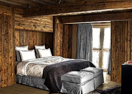 Cosy alpine bedrooms