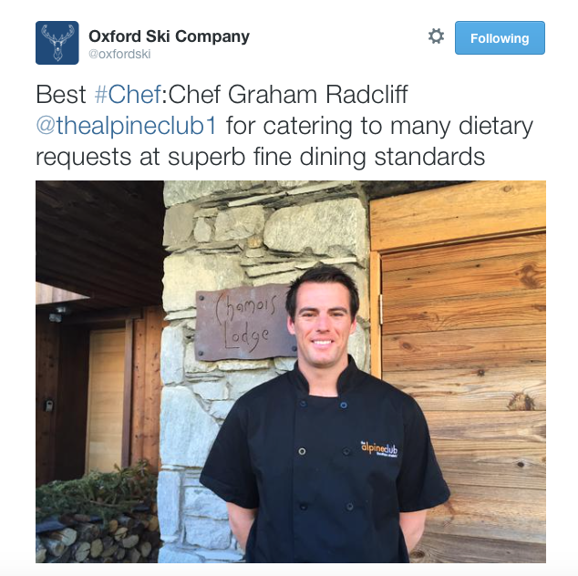 Graham Radcliffe - Best Chef